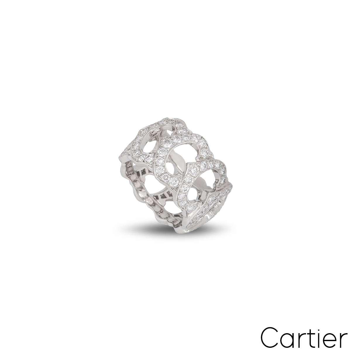 Cartier White Gold Dimaond C de Cartier Ring